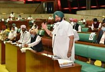 Punjab CM Captain Amarinder Singh in the assembly Tuesday | By special arrangement