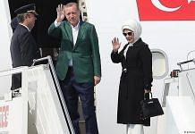 File photo of Turkish President Recep Tayyip Erdogan and his wife Emine Erdogan | Twitter | @HelenaDaZeus