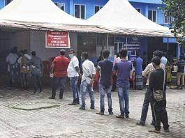 A Covid-19 testing centre in Kerala. | Photo: Praveen Jain/ThePrint