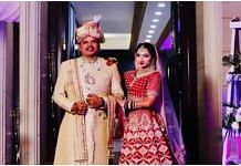 Lawyer Lupil Gupta with his bride | By special arrangement