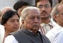 File photo of former Gujarat CM Kesubhai Patel in Ahmedabad