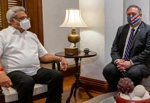 US Secretary of State Mike Pompeo (right) meets Sri Lankan President Gotabaya Rajapaksa Wednesday | Photo: Twitter | @SecPompeo