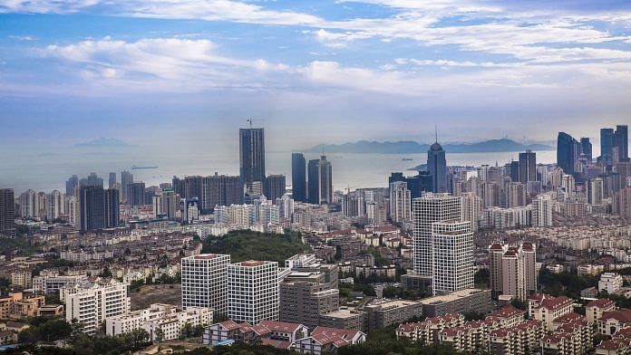 A view of Qingdao city