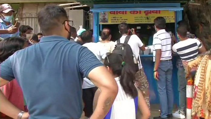 Crowds throng Delhi's Baba Ka Dhaba after a video about its owners' hardships went viral | ANI