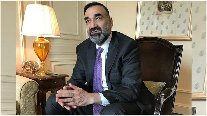 Afghan leader Ata Mohammad Noor during his Delhi visit this week | Nayanima Basu | ThePrint
