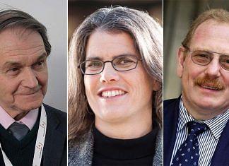 (L-R) 2020 physics Nobel winners Roger Penrose, Andrea Ghez, and Reinhard Genzel | Credit: Wikipedia/MIT News