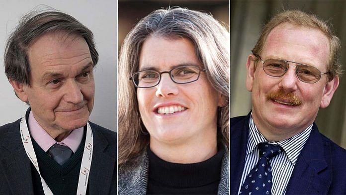 (L-R) 2020 physics Nobel winners Roger Penrose, Andrea Ghez, and Reinhard Genzel   Credit: Wikipedia/MIT News