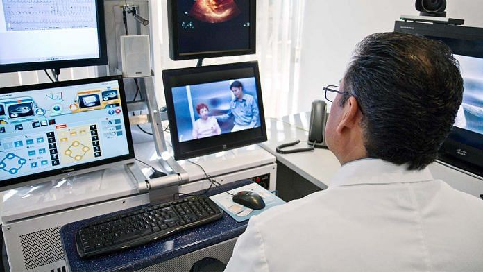 A doctor conducting an online consultation (representational image) | Wikimedia commons
