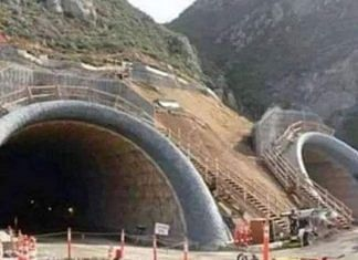 An image of the Tom Lantos Tunnel being circulated as the Atal Tunnel on social media platforms | Twitter | @NarenderChawla1