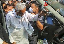 Bihar Chief Minister Nitish Kumar after casting his vote at the Raj Bhavan complex | Praveen Jain | ThePrint