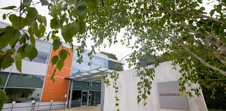The AstraZeneca Plc DaVinci building stands at the Melbourn Science Park in Cambridge, U.K