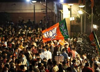 Representational image of BJP workers and supporters   Manisha Mondal   ThePrint