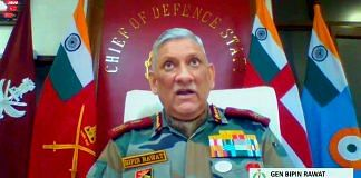 Chief of Defence Staff General Bipin Rawat addresses the National Defence College diamond Jubilee webinar, in New Delhi on 6 November 2020 | ANI