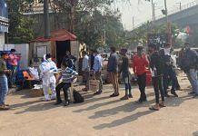 At the Covid testing check-point in Ashok Nagar near Delhi-Noida border   Aneesha Bedi   ThePrint