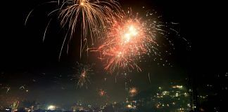 File photo | Fireworks illuminate the sky during Diwali celebrations, in Mandi, 14 Nov 2020 | PTI