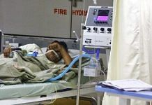 Representational image of a Covid patient in a hospital bed   Photo: Praveen Jain   ThePrint
