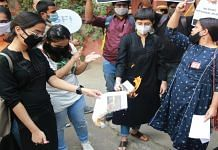 A protest march held by student organisations near LSR, Delhi, last week after Aishwarya Reddy's suicide   Manisha Mondal   ThePrint