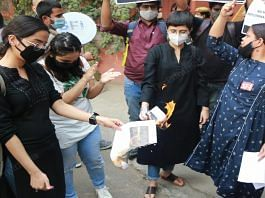 A protest march held by student organisations near LSR, Delhi, last week after Aishwarya Reddy's suicide | Manisha Mondal | ThePrint