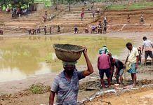 Representational image of Odisha residents working under MGNREGA | Photo: ANI