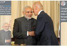 PM Narendra Modi tweeted a photo of him with US president-elect Joe Biden | Twitter