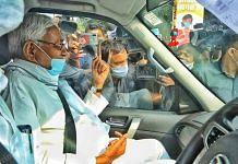 Bihar CM Nitish Kumar after casting his vote during the assembly polls   Praveen Jain   ThePrint