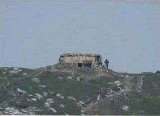 A screenshot from videos shared by the Indian Army that has been falsely altered | Twitter | @mubasherlucman