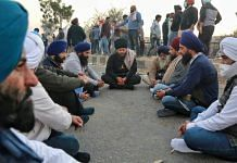 Protesting farmers at the Singhu Border between Delhi and Haryana | Photo: Manisha Mondal | ThePrint