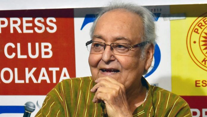 Actor Soumitra Chatterjee died Sunday, over a month after contracting Covid-19 | File photo: ANI