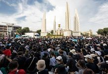 Pro-democracy protesters take part in a demonstration at the Democracy Monument in Bangkok | Commons