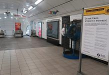 File photo of Notting Hill gate underground station in London during the lockdown in UK   Commons