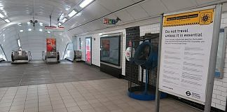 File photo of Notting Hill gate underground station in London during the lockdown in UK | Commons
