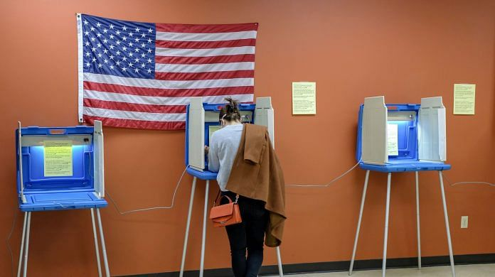 A voter in Milwaukee on 3 November