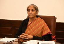Finance Minsiter Nirmala Sitharaman delivers the keynote address at the Indian Banks' Association's (IBA) 73rd Annual General Meeting via video conferencing | @nsitharamanoffc | Twitter
