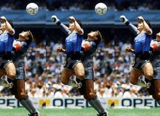 The moment of the Hand of God Goal, 1986 | Wikimedia