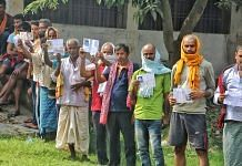 Voters standing in queue to cast their votes for Bihar assembly elections | Praveen Jain | ThePrint