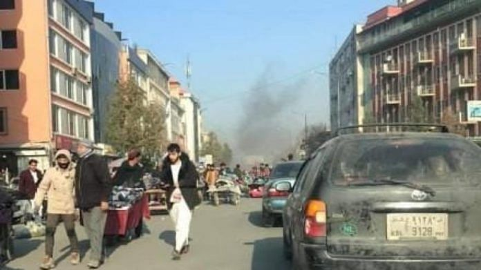 Rockets hit various parts of Kabul on 21 November | Twitter @TOLOnews