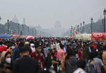 People gather at Rajpath to visit India Gate in New Delhi | Suraj Singh Bisht | ThePrint