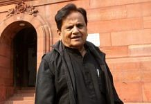 File photo of Ahmed Patel at Parliament | Photo: Praveen Jain | ThePrint