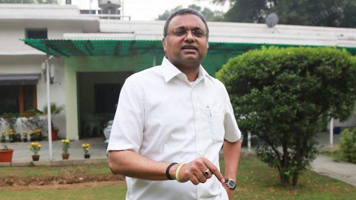 Congress Lok Sabha MP Karti Chidambaram | Photo: Manisha Mondal | ThePrint