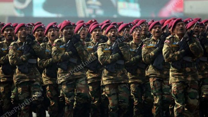 Army personnel during a parade | Representational image | Photo: Suraj Singh Bisht | ThePrint