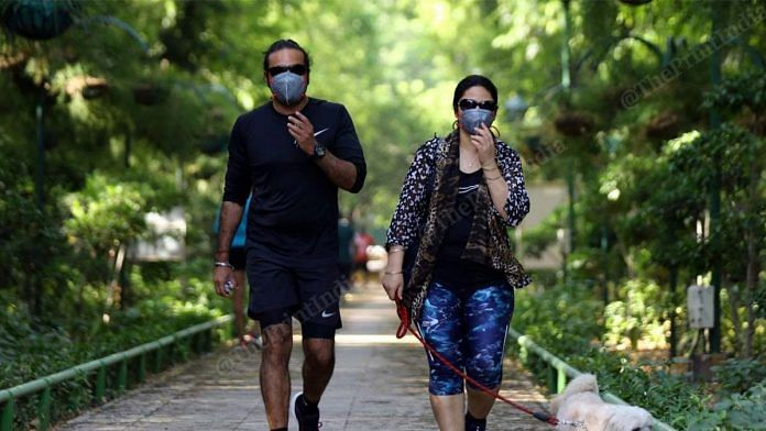 Wearing masks while running or jogging can increase breathlessness, doctors say | Photo: Manisha Mondal | ThePrint