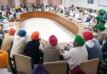 Members of a conglomerate of 30 farmer unions during a meeting in Punjab on 18 November 2020 | By special arrangement