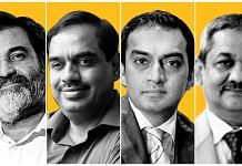 (L-R) Former Infosys chief financial officers Mohandas Pai and V. Balakrishnan, ChrysCapital co-founder Raj Kondur, and Abhay Jain, adviser to Manipal Education & Medical Group