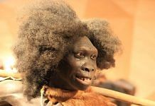 A representation of what a prehistoric woman from the stone age may have looked like   Commons