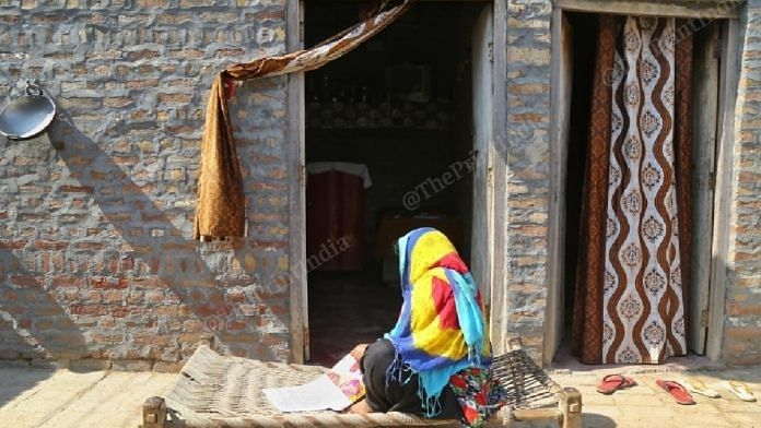 The minor's mother at her home in Butana village.   Photo: Suraj Singh Bisht/ThePrint