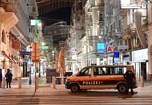 Police at the shooting site in Vienna, Austria | @HishamBeckett | Twitter