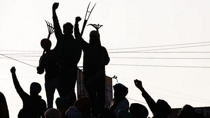 At the farmers protest in Singhu border | Photo: Manisha Mondal | ThePrint