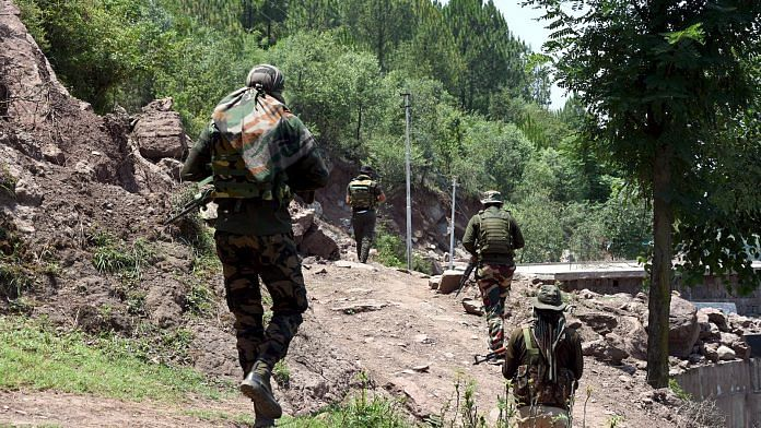 Representational image of troops along the Line of Control in J&K's Poonch | ANI