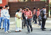 Representational image of students outside a CBSE exam centre in Delhi   Photo: ANI