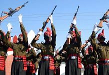 Representational image | Recruits to the J&K Light Infantry celebrate the end of their training | Photo: ANI